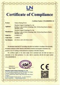 CE Certificate Lambda CC Worldwide